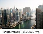dubai skyscrapers from above.... | Shutterstock . vector #1120522796