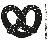 black and white pretzel with... | Shutterstock .eps vector #1120526795