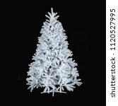 Christmas Tree Isolated Black...