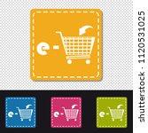 e shopping cart   four colorful ...