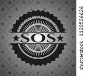 sos retro style black emblem | Shutterstock .eps vector #1120536626