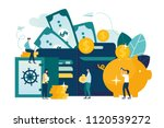 vector flat illustration  large ... | Shutterstock .eps vector #1120539272