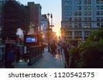 new york city   june 7  2018 ...   Shutterstock . vector #1120542575