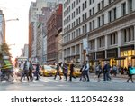 fast paced street scene with...   Shutterstock . vector #1120542638