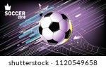 soccer vector illustration.... | Shutterstock .eps vector #1120549658