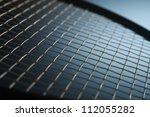 close up of top of tennis racket | Shutterstock . vector #112055282