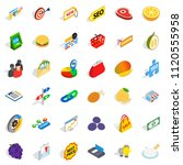 fiscal icons set. isometric set ... | Shutterstock . vector #1120555958