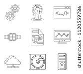 upgrade tech icons set. outline ...   Shutterstock . vector #1120559786