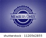 members only badge with denim... | Shutterstock .eps vector #1120562855