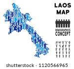 vector population laos map.... | Shutterstock .eps vector #1120566965