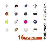 set of 16 editable sport icons...