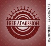 free admission retro style red... | Shutterstock .eps vector #1120567646