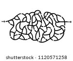 imaginative maze design | Shutterstock .eps vector #1120571258