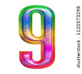 multicolor fun painted metallic ... | Shutterstock . vector #1120573298