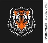 tiger esport gaming mascot logo ... | Shutterstock .eps vector #1120579448