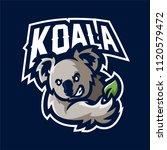 koala esport gaming mascot logo ... | Shutterstock .eps vector #1120579472
