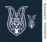 rabbit esport gaming mascot... | Shutterstock .eps vector #1120579478