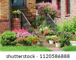 beautiful seasonal house... | Shutterstock . vector #1120586888