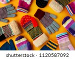 warm clothes in the form of... | Shutterstock . vector #1120587092