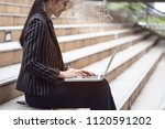 happy time of young business...   Shutterstock . vector #1120591202