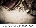 columbus day. pirates and... | Shutterstock . vector #1120601048