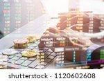 modern way of exchange. bitcoin ... | Shutterstock . vector #1120602608