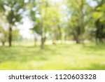 abstract blur city park bokeh... | Shutterstock . vector #1120603328