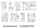 beer production stage line set. ... | Shutterstock .eps vector #1120604705