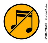 music note icon. not allowed ...   Shutterstock .eps vector #1120635662
