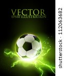 abstract vector football soccer ... | Shutterstock .eps vector #112063682