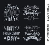 happy friendship day hand drawn ... | Shutterstock .eps vector #1120648628