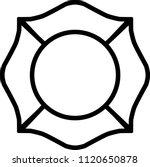 firefighter emblem st florian... | Shutterstock .eps vector #1120650878