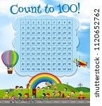math number count to 100... | Shutterstock .eps vector #1120652762