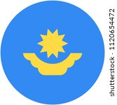 circular flag of kazakhstan   Shutterstock .eps vector #1120654472