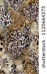 abstract design using animal... | Shutterstock . vector #1120664375