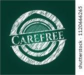 carefree chalk emblem written... | Shutterstock .eps vector #1120666265
