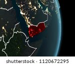 map of yemen in red as seen... | Shutterstock . vector #1120672295