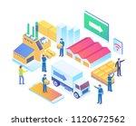 modern isometric smart logistic ... | Shutterstock .eps vector #1120672562