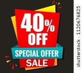 sale banner special offer 40 ... | Shutterstock .eps vector #1120676825