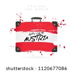 suitcase with the flag of... | Shutterstock .eps vector #1120677086