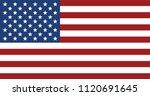 american flag on white... | Shutterstock .eps vector #1120691645