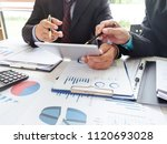 counselor law using a tablet... | Shutterstock . vector #1120693028