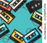 audio cassette tape background... | Shutterstock .eps vector #1120695296