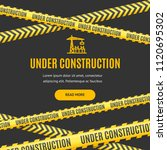 site under construction... | Shutterstock .eps vector #1120695302