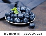 fresh organic blueberries berry ... | Shutterstock . vector #1120697285