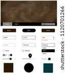 dark brown vector design ui kit ...