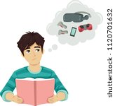 illustration of a teenage guy... | Shutterstock .eps vector #1120701632
