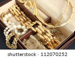 jewelry box with jewelry | Shutterstock . vector #112070252