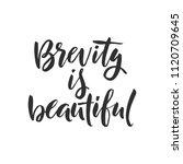hand drawn word. brush pen...   Shutterstock .eps vector #1120709645