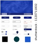 dark blue vector design ui kit...
